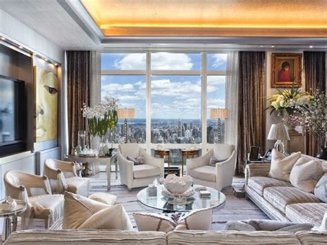 living room new york 75 million dollar nyc penthouse see this house