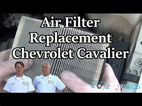 auto air conditioning repair 2005 chevrolet cavalier spare parts catalogs air filter replacement chevrolet cavalier 1995 2005 youtube