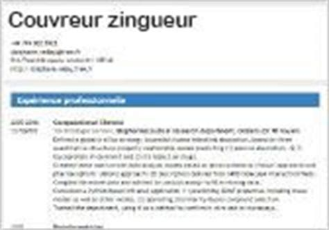 Exemple Lettre De Motivation Couvreur Zingueur Exemple De Cv Couvreur Zingueur Cv Anonyme