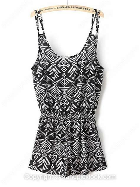 tribal pattern romper jumpsuit tribal print jumpsuit black and white jumpsuit