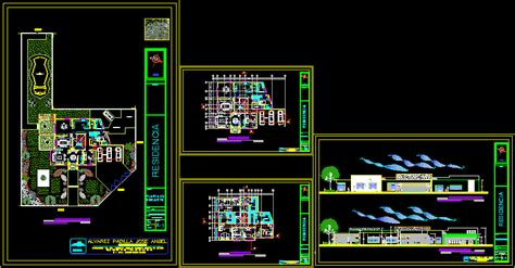 residential house dwg section  autocad designs cad