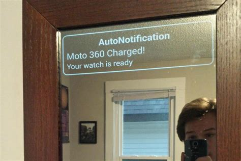 see this hacked android powered smart mirror in