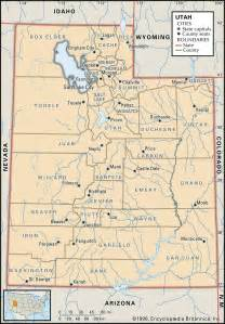 Map Of Utah County by State And County Maps Of Utah