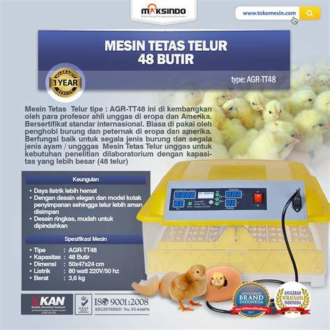 Harga Mesin Tetas Telur Ayam Kalkun jual mesin penetas telur otomatis 48 butir agr tt48 di