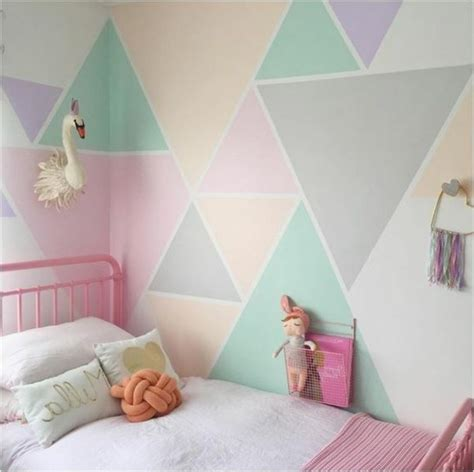 kinderzimmer wandgestaltung farbe geometrische formen tolle wandgestaltung mit farbe
