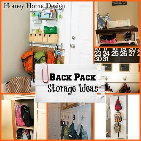backpack storage ideas backpack storage ideas