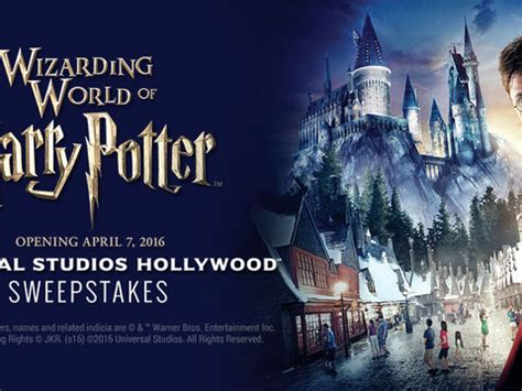 Universal Studios Sweepstakes 2016 - the wizarding world of harry potter universal studios hollywood sweepstakes official