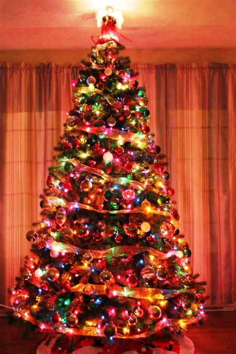 multi color christmas tree decorations traditional tree 2016