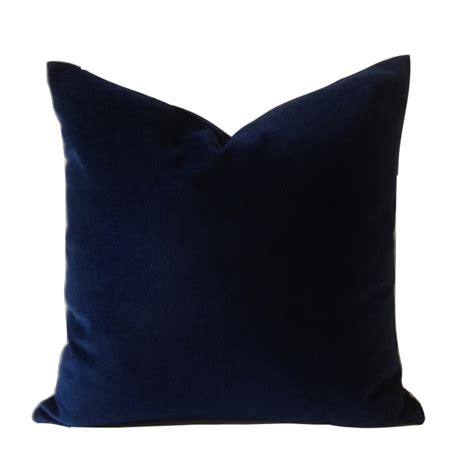 Navy Blue Accent Pillow by Navy Blue Cotton Velvet Pillow Cover Decorative Accent Throw
