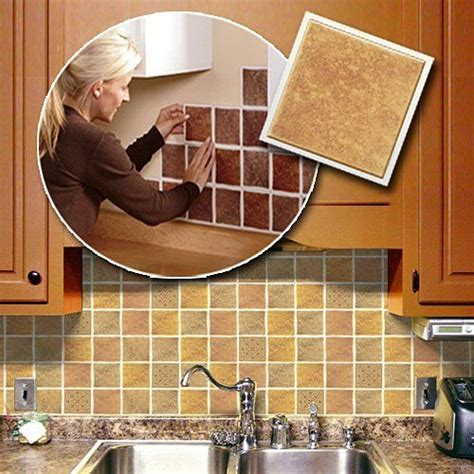 adhesive backsplash tiles for kitchen self adhesive