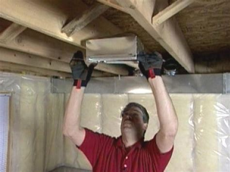 hvac install an air supply line and a cold air return