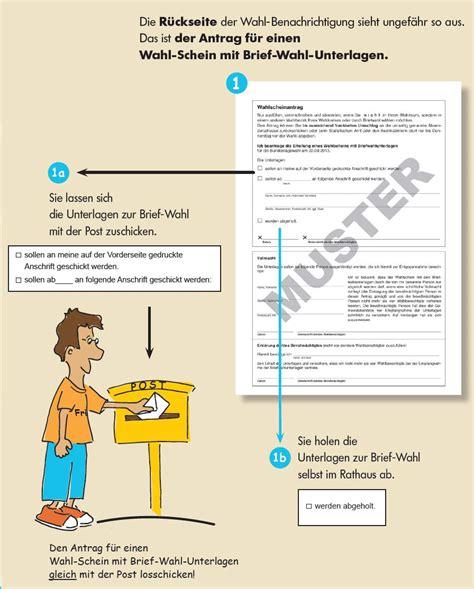Antrag Briefwahl Deutschland W 228 Hlen Mit Brief Wahl Antrag F 252 R Einen Wahl Schein