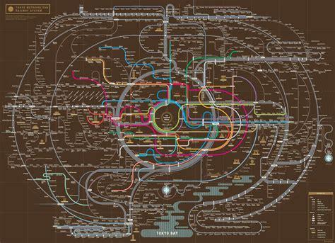 tokyo metro map south korean design company turns subway maps into