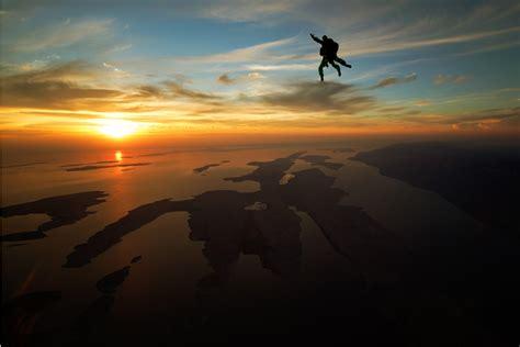 sky dive sunset skydiving zadar
