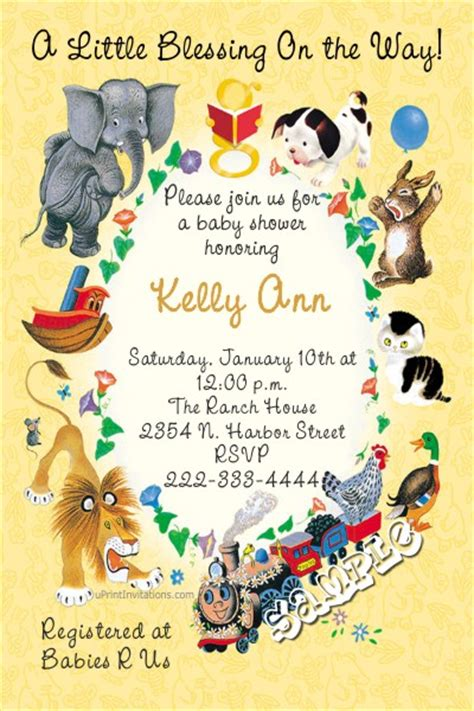 Little Golden Books Baby Shower Invitations Book Invitations Template