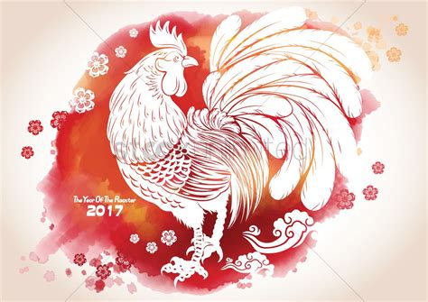 year of the 2017 year of the rooster greeting vector image 1968490 stockunlimited