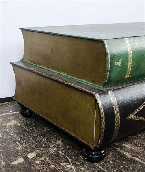 Book Shaped Coffee Table Leather Coffee Table In The Shape Of Books Circa 1950 At 1stdibs