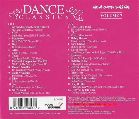 dance classics new jack swing dance classics new jack swing vol 7 dubman home