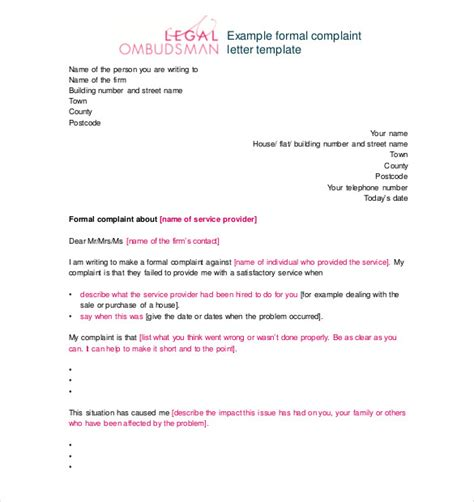 Complaint Letter Against An Employee Misconduct 15 complaint letters templates hr templates free