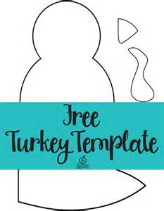 Free Printable Turkey Template by Turkey Craft For