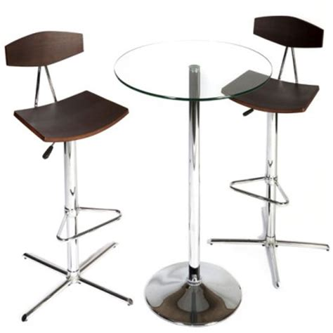 Glass Bar Table And Stools Stoolsonline Bar Kitchen Counter And Chrome Breakfast Bar Stools Glass Poseur Bar