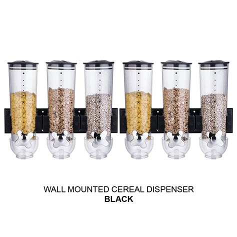 WALL MOUNTED DOUBLE / TRIPLE CEREAL DISPENSER DRY FOOD