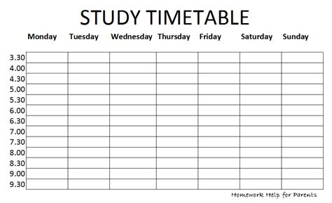 finals study schedule template timetable png 931 215 570 classroom