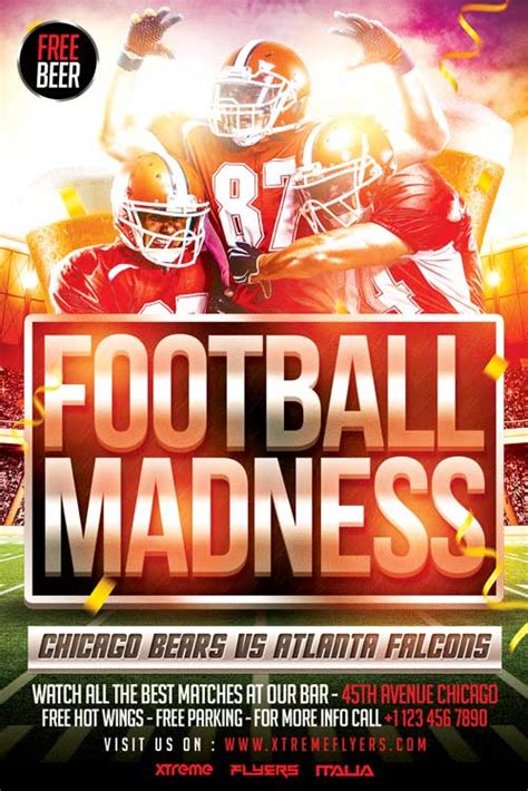 football madness flyer template psd xtremeflyers