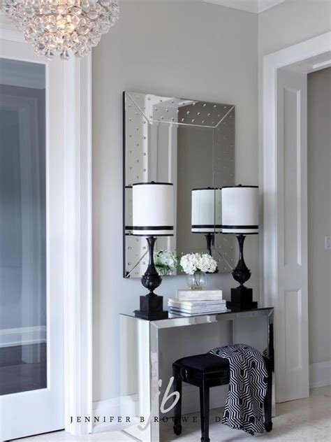 entryway mirror mirrored foyer table contemporary entrance foyer