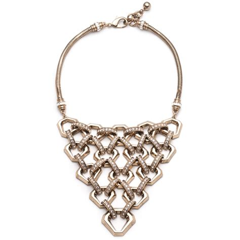 lulu narcissus necklace in metallic lyst