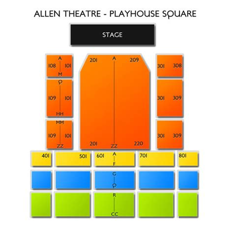 playhouse square seating allen theatre playhouse square seating chart seats