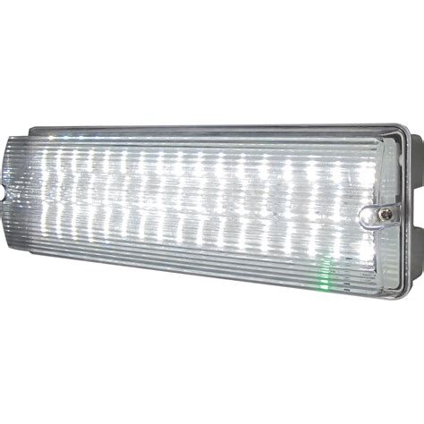 Led Emergency Light knightsbridge emled1 ip65 6w led emergency bulkhead light
