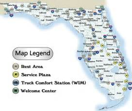 rest areas map florida department of transportation office of