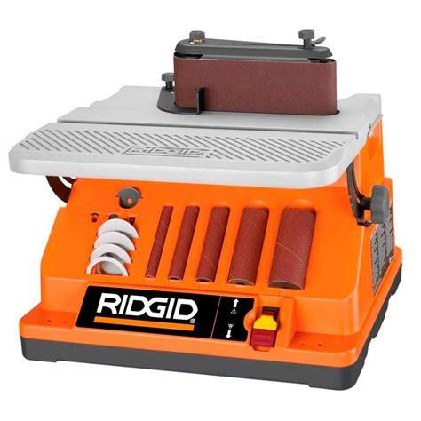 ridgid 14 in bandsaw r474 the home depot ridgid oscillating edge belt spindle sander home the o