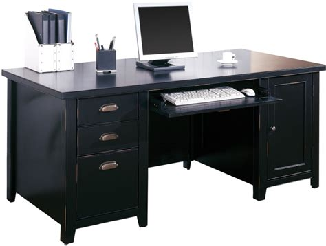 Tribeca Loft Double Pedestal Computer Desk North Point Tribeca Office Furniture