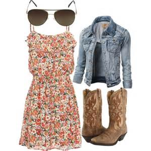 floral cowgirl dress with aviators polyvore