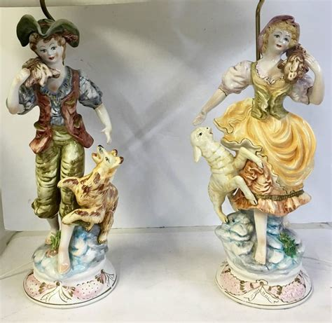 capodimonte l shades for sale 1950 s pair of italian porcelain country boy and