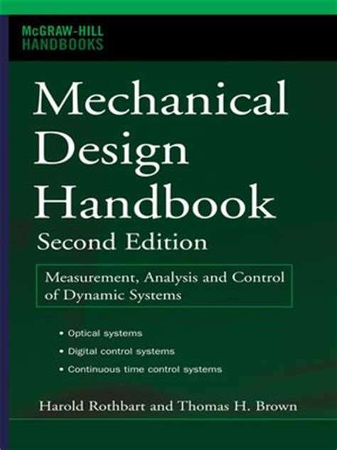 design for reliability electronics handbook series books mechanical design handbook by harold a rothbart