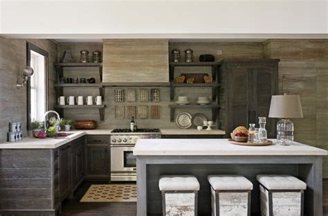 Weathered Gray Kitchen Cabinets Weathered Grey Cabinets And Walls In Kitchen Places And Spaces Pinterest Grey Cabinets