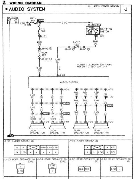 1998 mazda protege radio wiring diagram wiring diagram