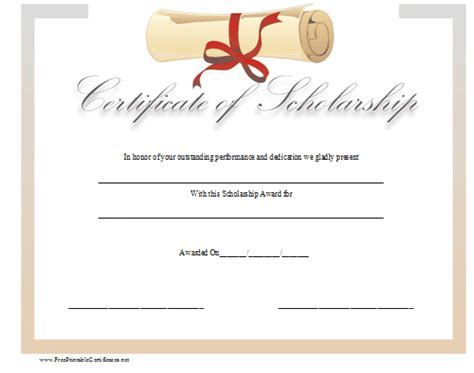 scholarship award template pin scholarship award certificate template free image