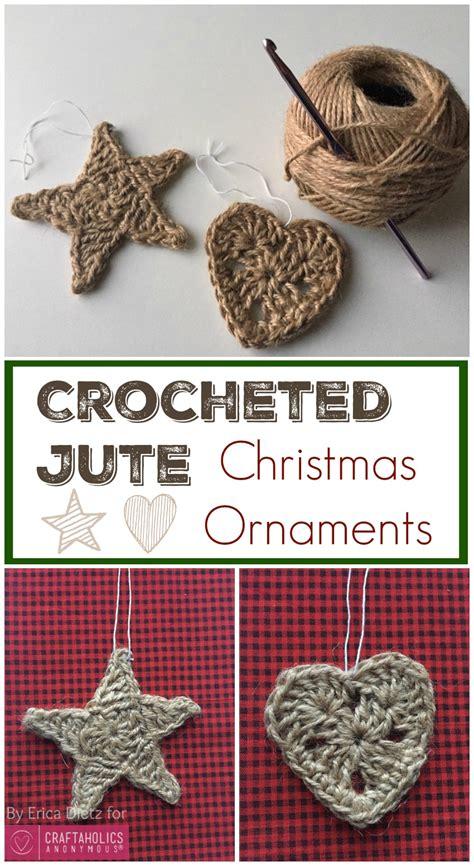 crochet ornaments craftaholics anonymous 174 crocheted jute ornaments