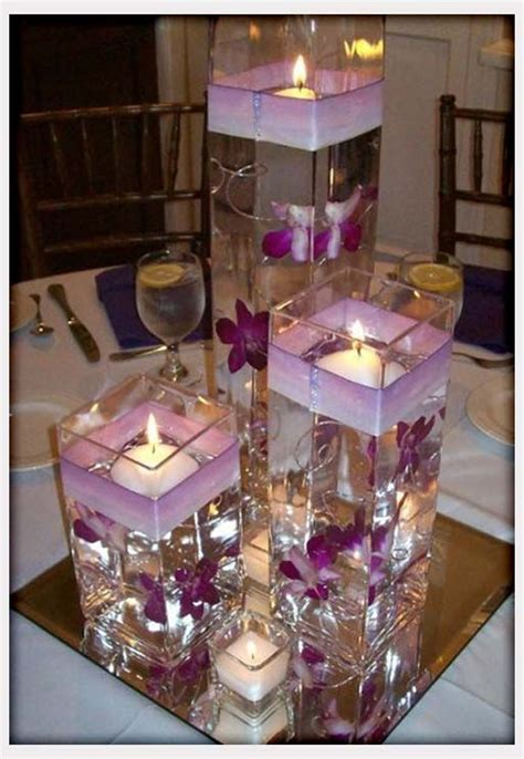 purple wedding centerpieces on pinterest inexpensive wodnerful diy unique floating candle centerpiece with
