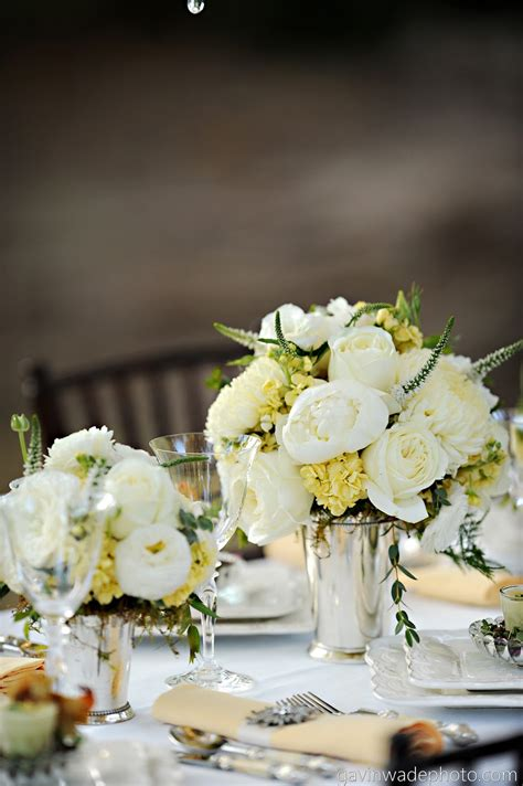 Great Gatsby Inspired Wedding Heavenly Blooms Wedding Roses Centerpieces