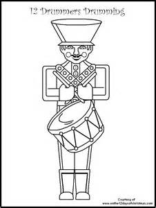 twelve christmas coloring pages coloring