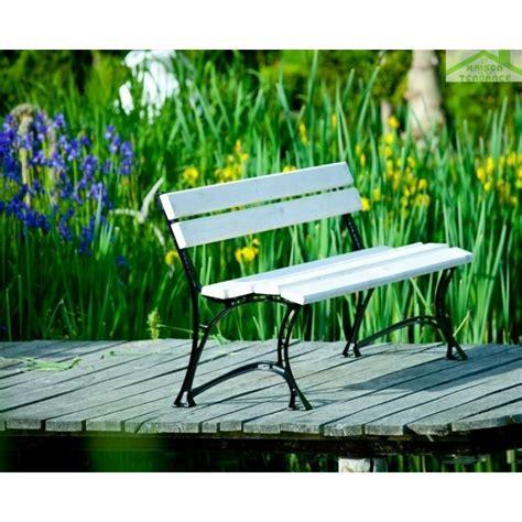 Banc Jardin Blanc banc de jardin blanc en bois et aluminium 150cm