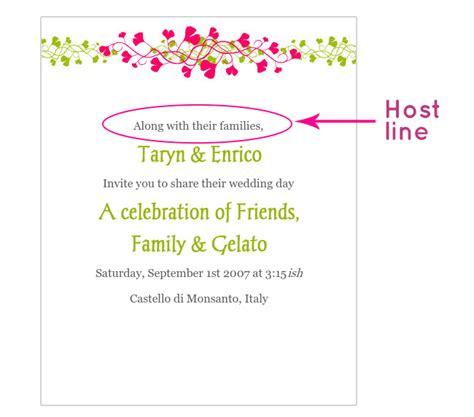 Wedding Invitation Lines by Wedding Invitation Wording The Host Line