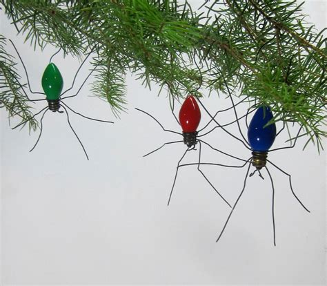 small lucky christmas spider christmas tree ornaments set of 3