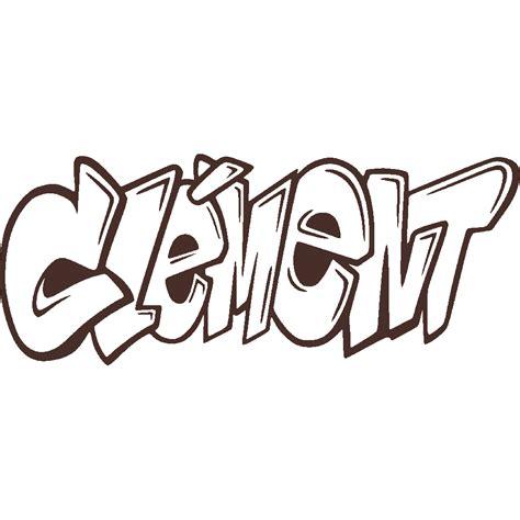 stickers stickers voornaam clement graffiti art stick