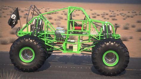 grave digger monster truck specs grave digger monster truck desert 3d model cgstudio